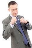 Businessman punching Stock Image