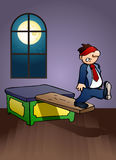 Businessman punishment on office Stock Image