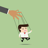 Businessman puppet on ropes. Stock Image