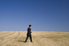 Businessman pure walking Royalty Free Stock Images
