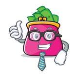 Businessman purse character cartoon style. Vector illustration Royalty Free Stock Photos
