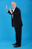 Businessman pushing Royalty Free Stock Photos