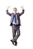 Businessman pushing away  problems Stock Photo