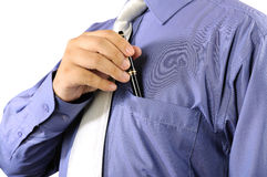 Businessman Putting His Pen Into His Pocket royalty free stock photo