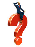 Businessman on a question Stock Image