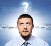 Businessman and question, concept Stock Photography