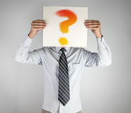 Businessman with question Royalty Free Stock Photos