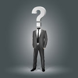 Businessman with Question Mark Head Stock Photos