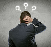 Businessman question Royalty Free Stock Images