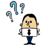 Businessman questions Stock Images