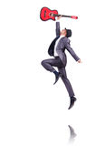 Businessman quitar player Royalty Free Stock Photo
