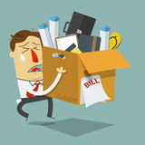 Businessman quite job. Resign form work. Dismissed employee. Stock Photos