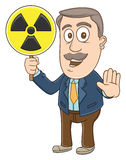 Businessman -  Radiation area sign Stock Photography