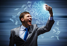 Businessman in rage Stock Photos