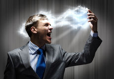 Businessman in rage Royalty Free Stock Image