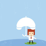Businessman with rain Stock Image