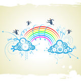 Businessman with rainbow. There is businessman with rainbow Stock Images