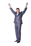 Businessman with raised hand Royalty Free Stock Photo