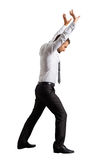 Businessman raised his hands Royalty Free Stock Images