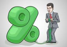 Businessman raises interest rates. Stock Photography