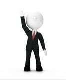 Businessman raising hand up ,clipping path included Royalty Free Stock Image