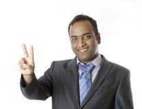 A Businessman raising hands Stock Image