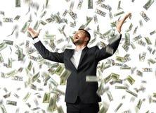 Businessman raising hands up Royalty Free Stock Image