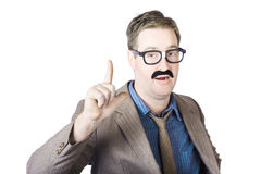 Businessman With Raising Ringer Royalty Free Stock Images