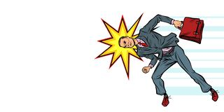 Businessman ramming head obstacle vector illustration