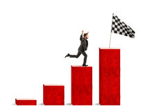 Free Businessman Reaches Glory On A Statistical Scale Royalty Free Stock Image - 92150856