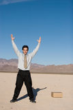 Businessman reaching up Royalty Free Stock Photos