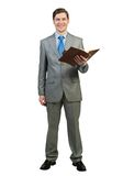 Businessman reading book Stock Image