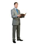 Businessman reading book Royalty Free Stock Images