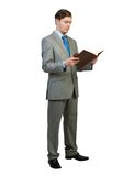 Businessman reading book Royalty Free Stock Photo