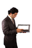 Businessman Reading Documents Royalty Free Stock Images