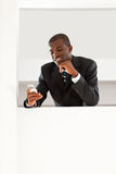 Businessman reading emails Royalty Free Stock Images