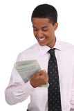Businessman reading the journal Stock Photo