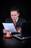 Businessman is Reading Stock Images