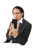 Businessman reading a text message Royalty Free Stock Photo