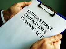 Free Businessman Reads Families First Coronavirus Response Act FFCRA Royalty Free Stock Photography - 177313017
