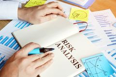 Free Businessman Reads Risk Analysis Report Royalty Free Stock Photography - 166830287