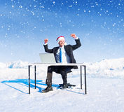 Businessman Ready for Christmas Stock Photography