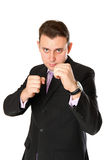Businessman is ready for fight Royalty Free Stock Photos