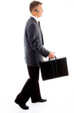 Businessman ready with his office bag Stock Photography