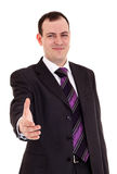 Businessman ready shake hand Stock Photos