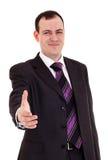 Businessman ready shake hand Stock Photos