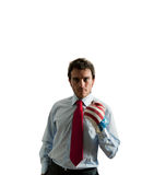Businessman ready to fight Royalty Free Stock Photography