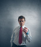 Businessman ready to fight Royalty Free Stock Photos