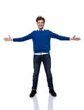 Businessman ready to hug you. Happy businessman ready to hug you Royalty Free Stock Images