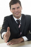 Businessman ready to shake hands Royalty Free Stock Photography